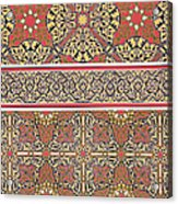 Ceiling Arabesques From The Mosque Of El-bordeyny Acrylic Print by Emile Prisse d Avennes