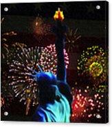 Celebrate America Acrylic Print by Simon Wolter