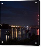 Celebrating Independence Day On The Susquehanna Acrylic Print by Gene Walls