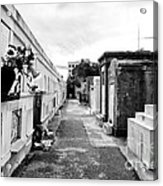 Cemetery Departed Acrylic Print by John Rizzuto