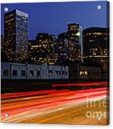 Century City Skyline At Night Acrylic Print by Paul Velgos