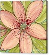 Ceramic Flower 2 Acrylic Print by Anna Skaradzinska