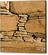 Chaco Bricks Acrylic Print by Steven Ralser