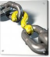 Chain Missing Link Question Acrylic Print by Allan Swart