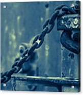 Chained And Moody Acrylic Print by Toni Hopper