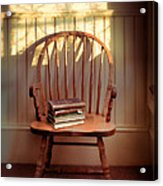 Chair And Lace Shadows Acrylic Print by Jill Battaglia