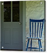 Chair On Farmhouse Porch Acrylic Print by Olivier Le Queinec