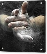 Chalked Hands, High-speed Photograph Acrylic Print by Science Photo Library