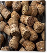 Champagne Corks Acrylic Print by Garry Gay