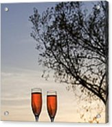 Champagne For Two Acrylic Print by Kay Pickens