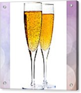Champagne In Glasses Acrylic Print by Elena Elisseeva