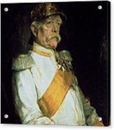 Chancellor Otto Von Bismarck Acrylic Print by Franz Seraph von Lenbach