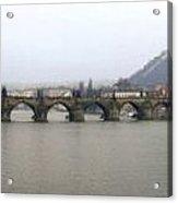 Charles Bridge Acrylic Print by Gary Lobdell