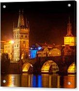 Charles Bridge II- Prague Acrylic Print by John Galbo