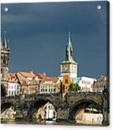 Charles Bridge Prague Acrylic Print by Matthias Hauser