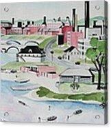 Charles River Acrylic Print by Sue Melanson