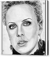 Charlize Theron In 2008 Acrylic Print by J McCombie