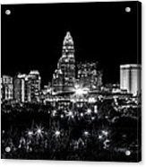 Charlotte Night Acrylic Print by Chris Austin