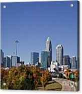Charlotte North Carolina Acrylic Print by Jill Lang