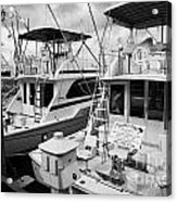 Charter Fishing Boats In The Old Seaport Of Key West Florida Usa Acrylic Print by Joe Fox