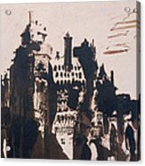 Chateau Fortified By Two Bridges Acrylic Print by Victor Hugo