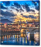 Chattanooga Evening After The Storm Acrylic Print by Steven Llorca
