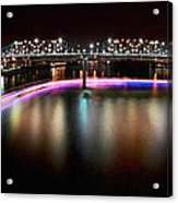 Chattanooga Holiday Boat Parade Acrylic Print by Steven Llorca