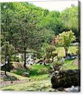 Cheekwood Japanese Garden Acrylic Print by Donna Melton