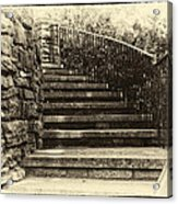Cheekwood Stairs Cropped Acrylic Print by Mark Furnell
