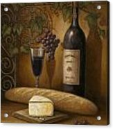 Cheese And Wine Acrylic Print by John Zaccheo