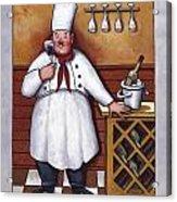 Chef 2 Acrylic Print by John Zaccheo