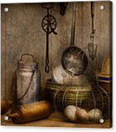 Chef - Ingredients - Breakfast And Grandpa's Acrylic Print by Mike Savad