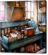 Chemist - Making Glue Acrylic Print by Mike Savad