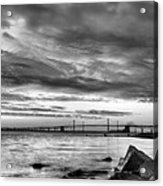 Chesapeake Mornings Bw Acrylic Print by JC Findley