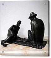 Chess On The Beach Acrylic Print by Nikola Litchkov