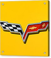 Chevrolet Corvette Flags Acrylic Print by Phil 'motography' Clark