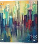 Chicago A Reflection Acrylic Print by Julie Lueders