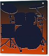 Chicago Bears Drum Set Acrylic Print by Joe Hamilton