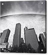 Chicago Black And White Photography Acrylic Print by Dapixara Art