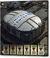 Chicago Bulls Banners Acrylic Print by Thomas Woolworth