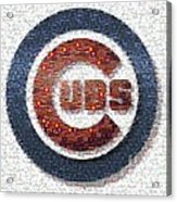 Chicago Cubs Mosaic Acrylic Print by David Bearden
