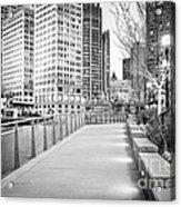 Chicago Downtown City Riverwalk Acrylic Print by Paul Velgos