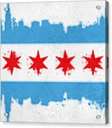 Chicago Flag Acrylic Print by Mike Maher