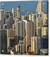 Chicago From Above - What A View Acrylic Print by Christine Till