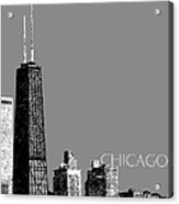 Chicago Hancock Building - Pewter Acrylic Print by DB Artist