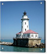 Chicago Lighthouse Acrylic Print by Julie Palencia