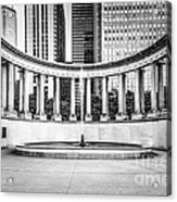 Chicago Millennium Monument In Black And White Acrylic Print by Paul Velgos