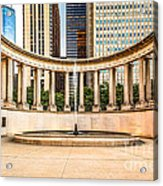 Chicago Millennium Monument In Wrigley Square Acrylic Print by Paul Velgos