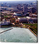 Chicago Museum Park Acrylic Print by Thomas Woolworth