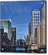 Chicago River Acrylic Print by Sebastian Musial